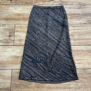 Peruvian Connection A-line Skirt Sz XS Blue Grey